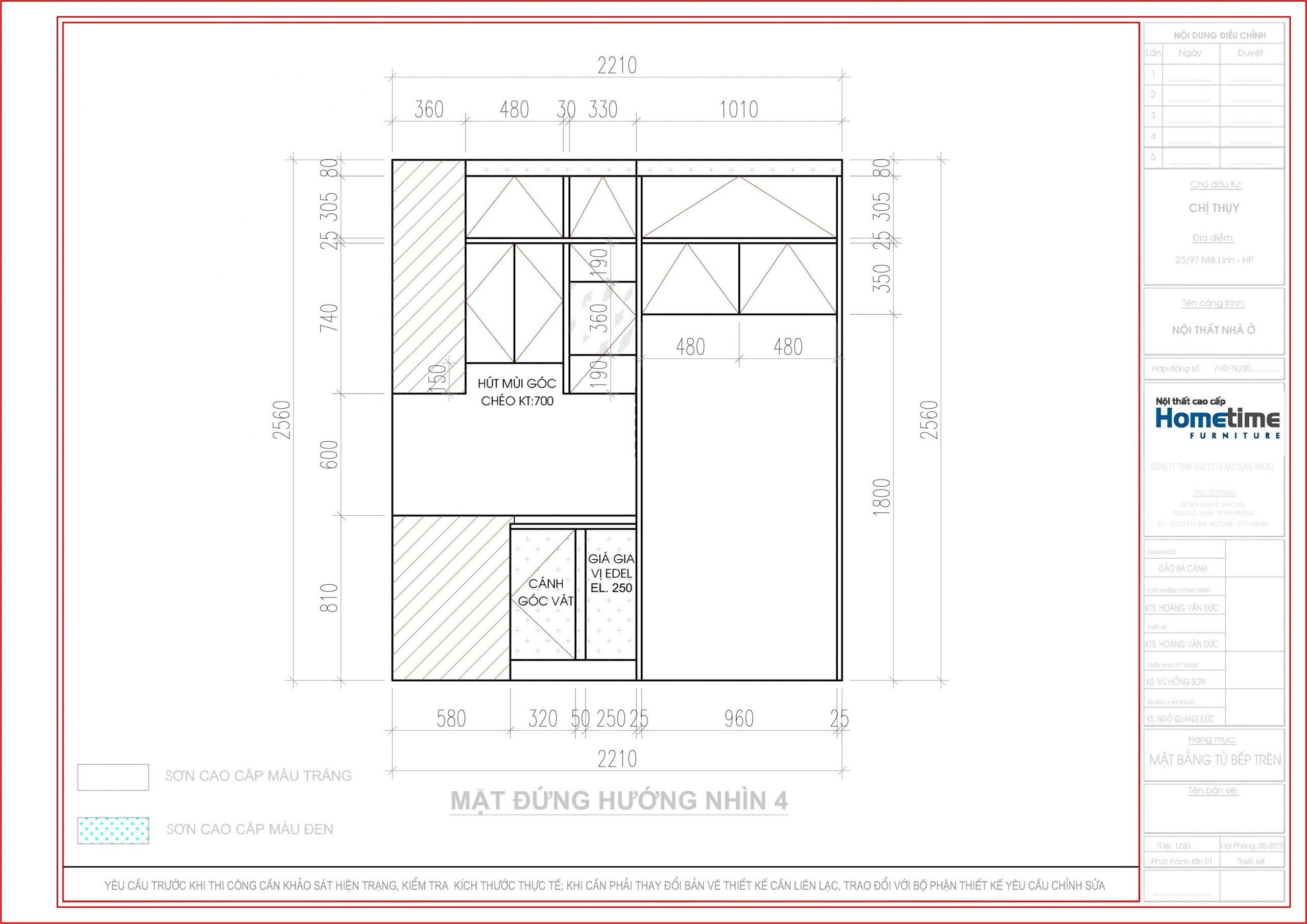 Hình ảnh tủ bếp theo hướng nhìn 4