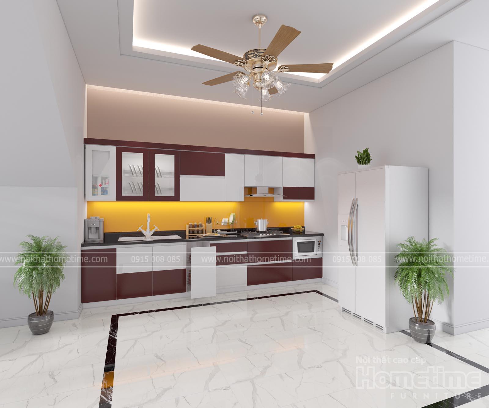 Thiết kế tủ bếp nhựa nhà chị Phượng An Dương