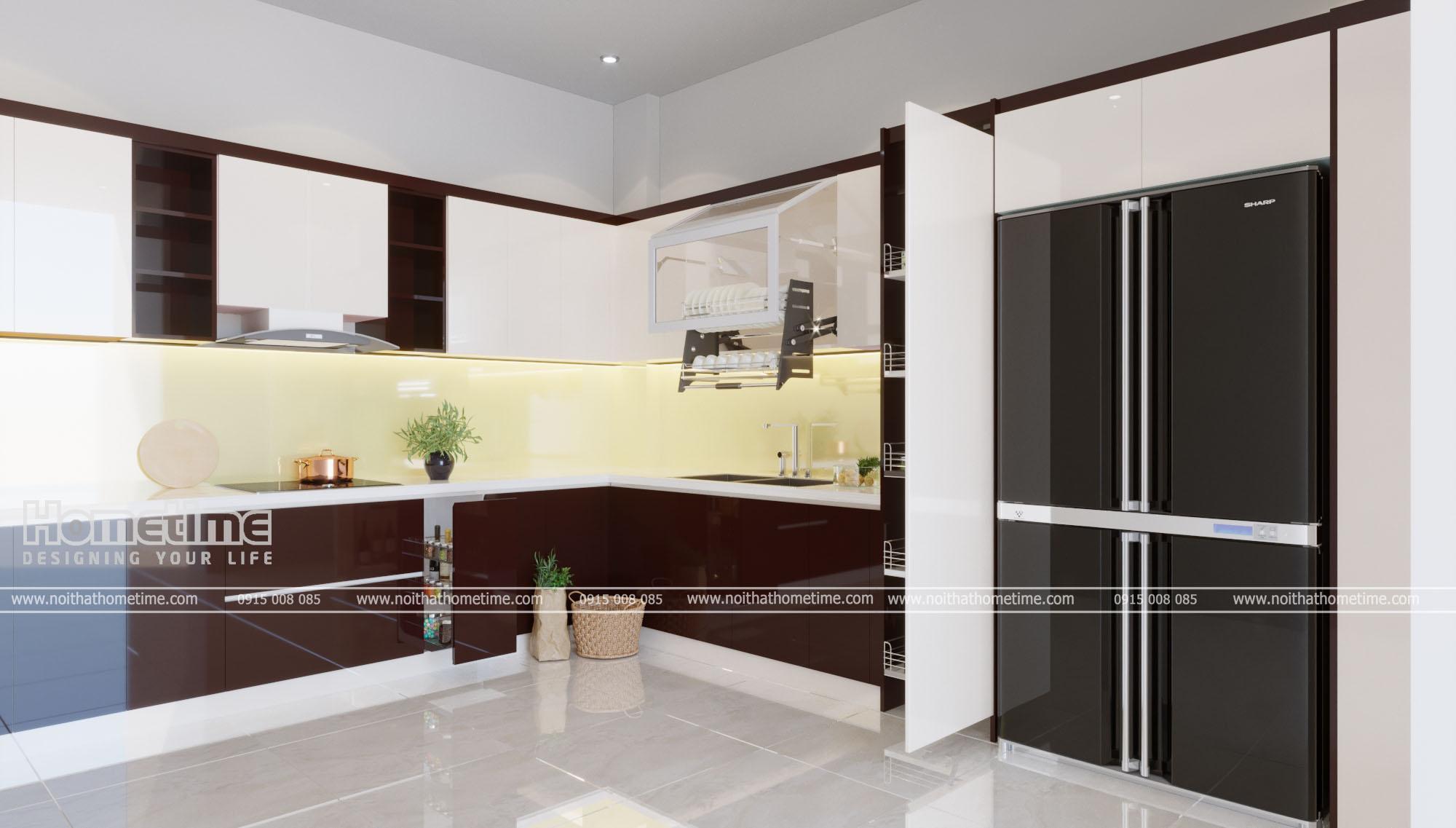 Tủ bếp hiện đại nhà anh Nghĩa Chi Lăng