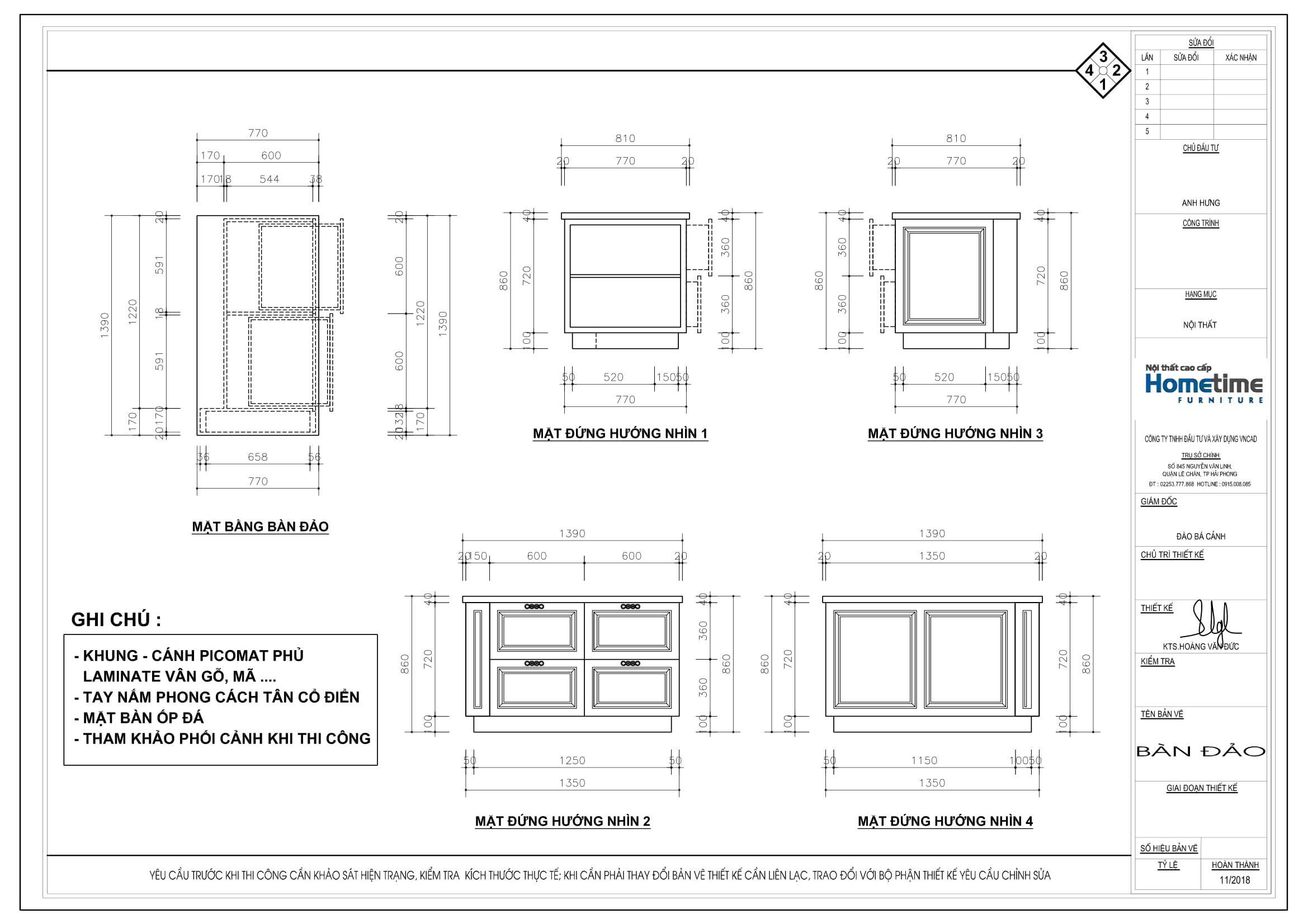 Tổng quan bản vẽ thiết kế tủ bếp Tân Cổ Điển