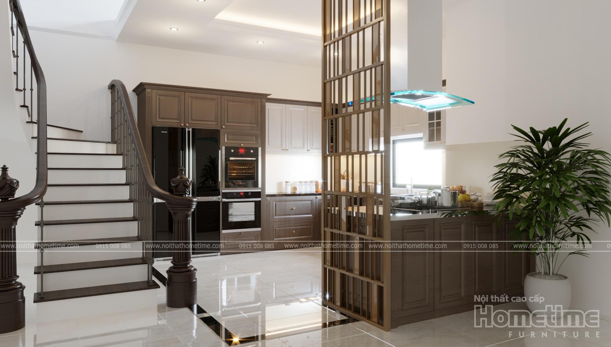 Tủ bếp chữ U mang phong cách hiện đại, đẳng cấp