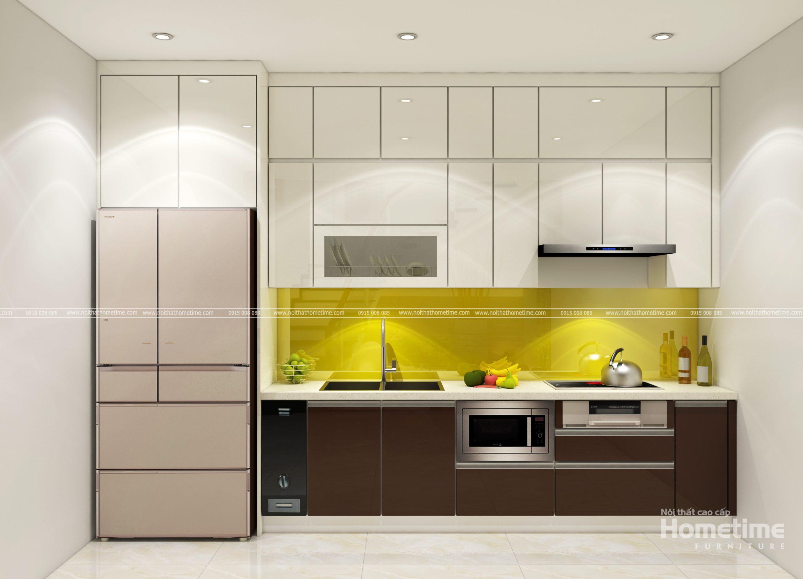 Hình ảnh tủ bếp tiện nghi nhà chú Tuấn
