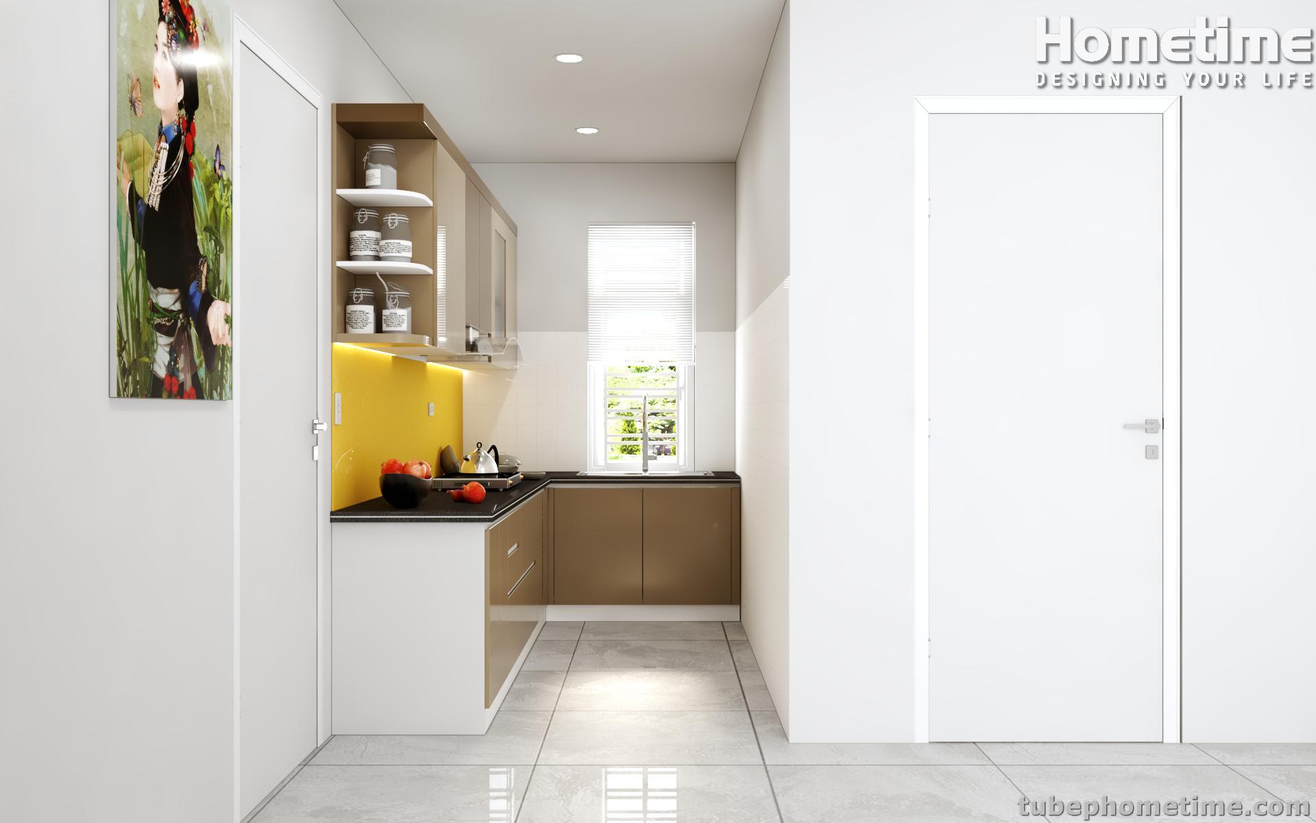 Hình ảnh tủ bếp qua góc nghiêng khác