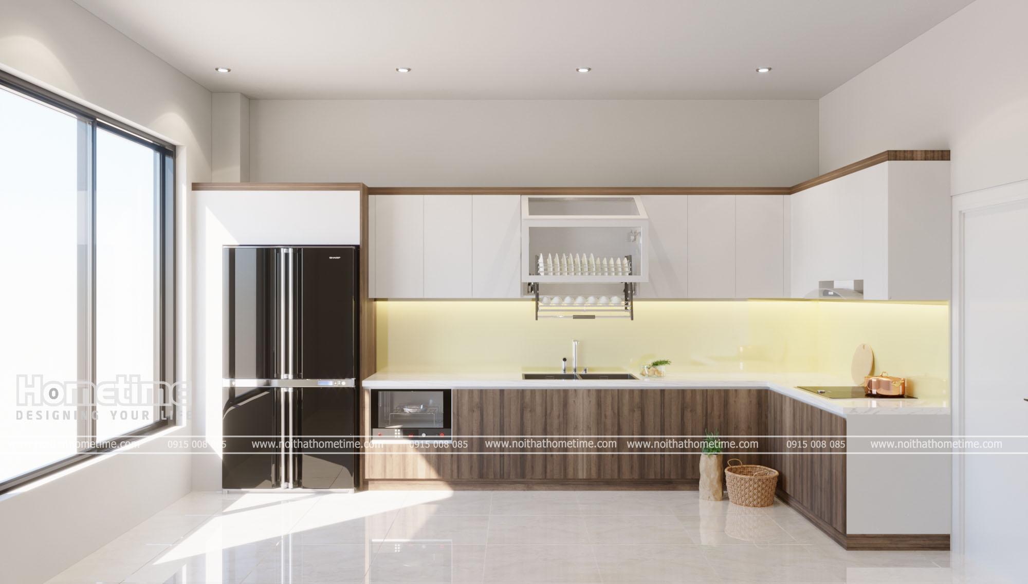 Hình ảnh tổng quan tủ bếp nhà anh Tuấn