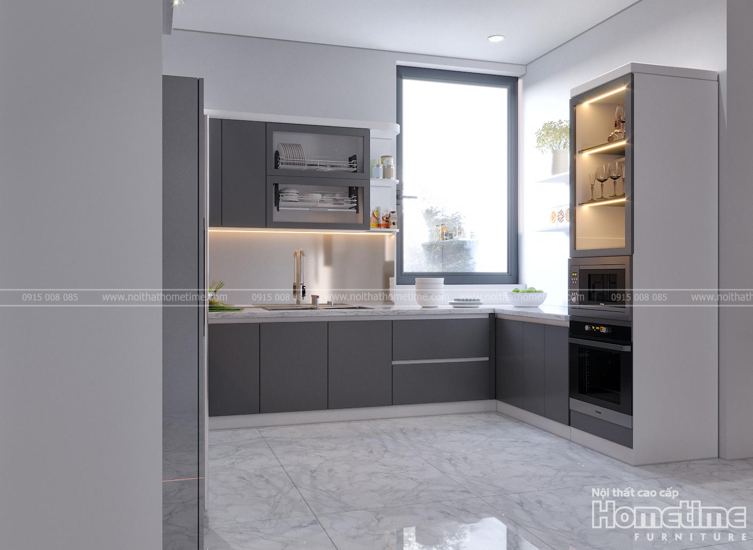 Hình ảnh tủ bếp nhà anh Chinh