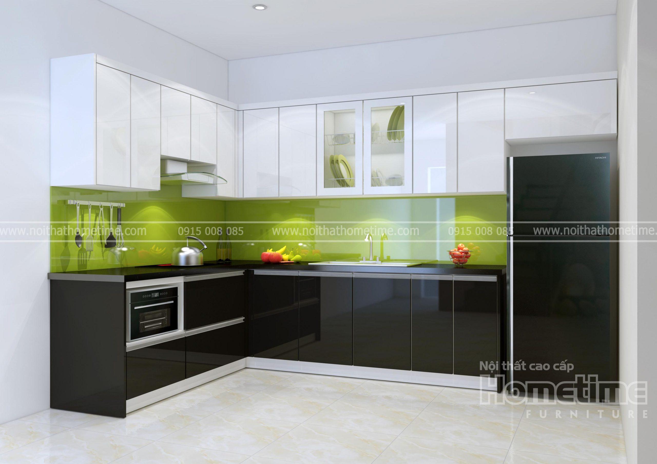 Hình ảnh tủ bếp nhà anh Huy Khúc Thừa Dụ